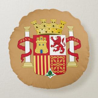 Escudo de armas de España Cojín Redondo