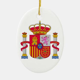 Escudo de armas de España Adorno Ovalado De Cerámica