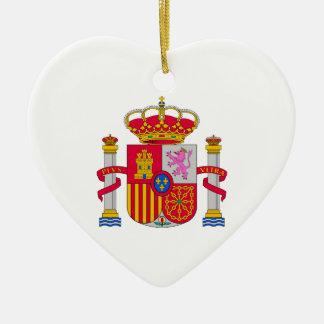 Escudo de armas de España Adorno De Cerámica En Forma De Corazón