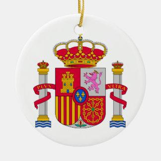 Escudo de armas de España Adorno Redondo De Cerámica