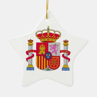 Escudo de armas de España Adorno De Cerámica En Forma De Estrella