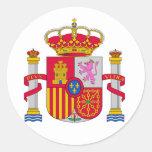 Escudo de armas de España Etiquetas Redondas