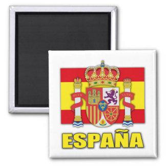 Escudo de armas de España Imán Cuadrado