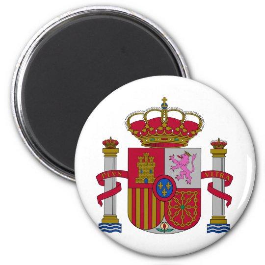 Escudo de armas de España Imán Redondo 5 Cm