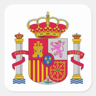 Escudo de armas de España Pegatina Cuadrada