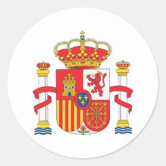 Escudo de armas de España Pegatina Redonda