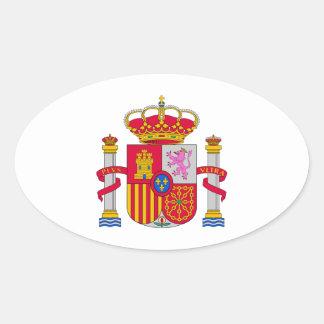 Escudo de armas de España Pegatina Ovalada