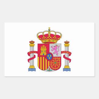 Escudo de armas de España Pegatina Rectangular