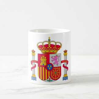 Escudo de armas de España Taza Básica Blanca