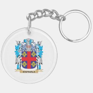 Escudo de armas de Espinola - escudo de la familia Llavero Redondo Acrílico A Doble Cara