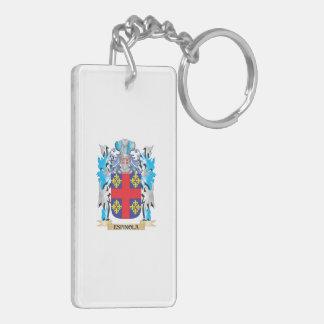 Escudo de armas de Espinola - escudo de la familia Llavero Rectangular Acrílico A Doble Cara