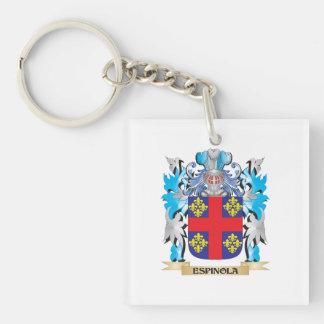 Escudo de armas de Espinola - escudo de la familia Llavero Cuadrado Acrílico A Una Cara
