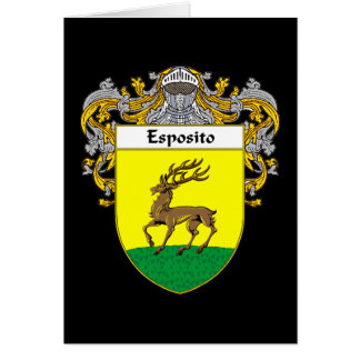 Escudo de armas de Esposito (cubierto) Tarjeta De Felicitación