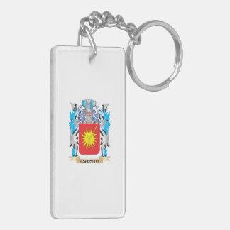 Escudo de armas de Esposito - escudo de la familia Llavero Rectangular Acrílico A Doble Cara