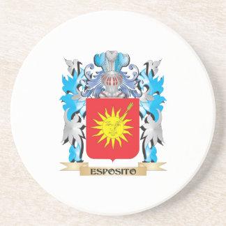 Escudo de armas de Esposito - escudo de la familia Posavasos Cerveza