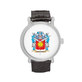 Escudo de armas de Esposito - escudo de la familia Relojes De Pulsera