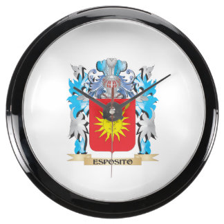 Escudo de armas de Esposito - escudo de la familia Relojes Aqua Clock