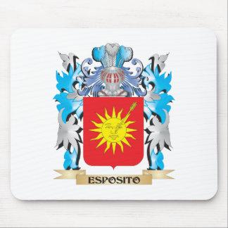 Escudo de armas de Esposito - escudo de la familia Alfombrilla De Ratón