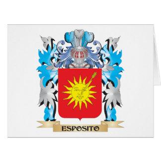 Escudo de armas de Esposito - escudo de la familia Tarjeta De Felicitación Grande