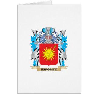Escudo de armas de Esposito - escudo de la familia Tarjeta De Felicitación