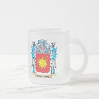 Escudo de armas de Esposito - escudo de la familia Taza Cristal Mate