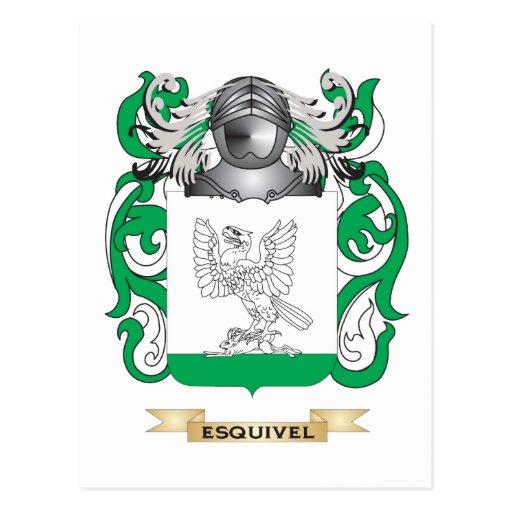 Escudo de armas de Esquivel Tarjeta Postal