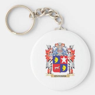 Escudo de armas de Esteban - escudo de la familia Llavero Redondo Tipo Pin