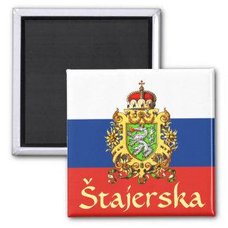 Escudo de armas de Estiria (Eslovenia) Imán Cuadrado
