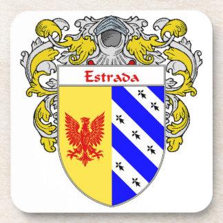 Escudo de armas de Estrada/escudo de la familia Posavasos De Bebidas
