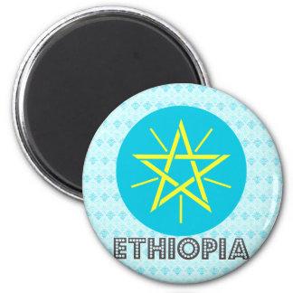 Escudo de armas de Etiopía Imán Redondo 5 Cm