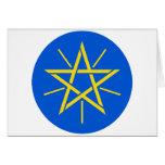 Escudo de armas de Etiopía Y Felicitacion