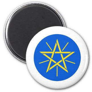 Escudo de armas de Etiopía Y Imán Redondo 5 Cm