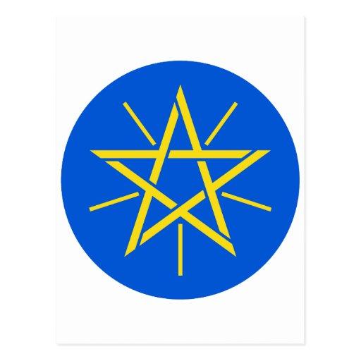 Escudo de armas de Etiopía Y Postal