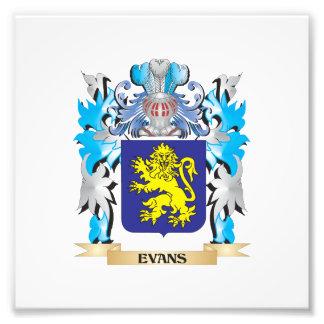 Escudo de armas de Evans - escudo de la familia Fotografía