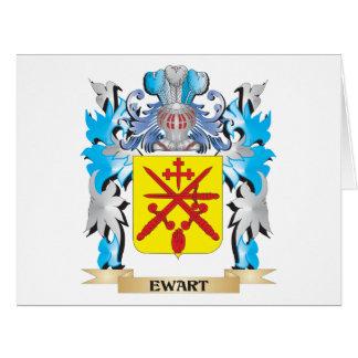 Escudo de armas de Ewart - escudo de la familia Felicitación