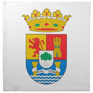 Escudo de armas de Extremadura (España) Servilleta Imprimida