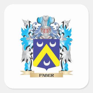 Escudo de armas de Faber - escudo de la familia Pegatina Cuadrada