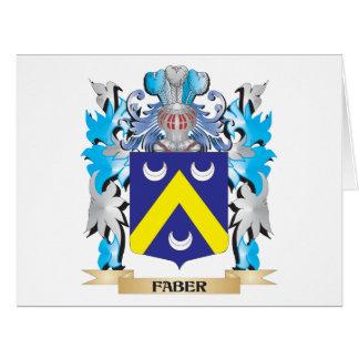 Escudo de armas de Faber - escudo de la familia Tarjeta De Felicitación Grande