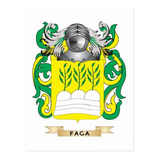 Escudo de armas de Faga Tarjetas Postales