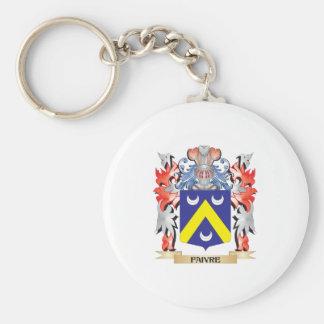 Escudo de armas de Faivre - escudo de la familia Llavero Redondo Tipo Pin