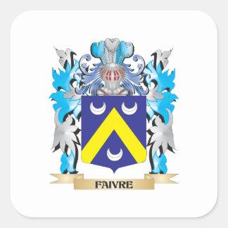 Escudo de armas de Faivre - escudo de la familia Calcomanías Cuadradases