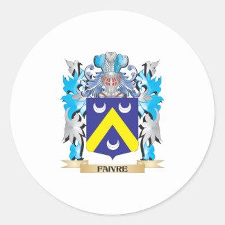 Escudo de armas de Faivre - escudo de la familia Pegatinas Redondas