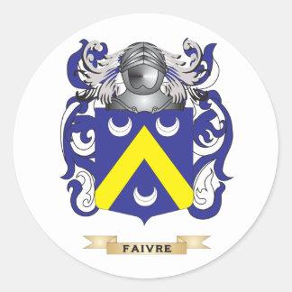 Escudo de armas de Faivre Pegatinas Redondas