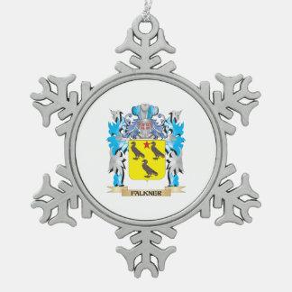Escudo de armas de Falkner - escudo de la familia Adorno De Peltre En Forma De Copo De Nieve