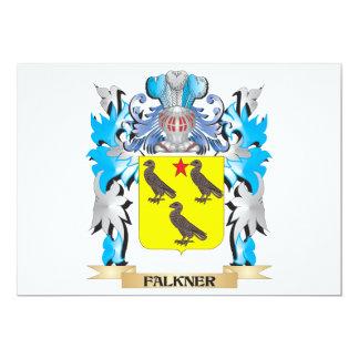 """Escudo de armas de Falkner - escudo de la familia Invitación 5"""" X 7"""""""