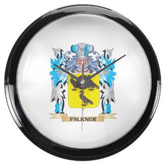 Escudo de armas de Falkner - escudo de la familia Relojes Aqua Clock