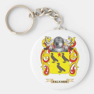 Escudo de armas de Falkner Llavero Redondo Tipo Pin