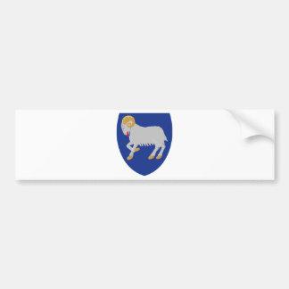 Escudo de armas de Faroe Island (Dinamarca) Pegatina De Parachoque