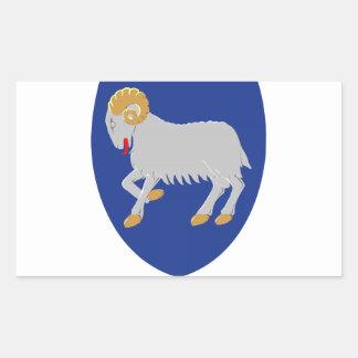 Escudo de armas de Faroe Island (Dinamarca) Rectangular Pegatina