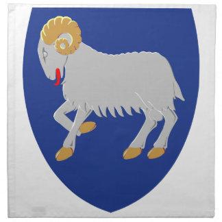 Escudo de armas de Faroe Island (Dinamarca) Servilleta